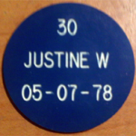 3 - Line Blue and White AA Chip Engraved