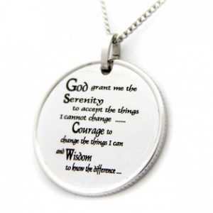 Coin Pendant | Stainless Steel Coin Pendant | Serenity Prayer