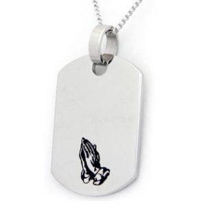 Dog Tag, Serenty Prayer, dog tag necklace, dog tag pendant, Dog Tag with Serenty Prayer,