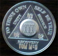 Silver AA Medallion Engraved