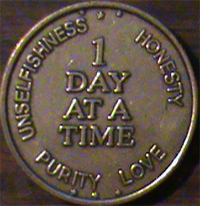 Day At A Time, Day At A Time medallion, 1 Day At A Time, 1 Day At A Time medallion, one Day At A Time, one Day At A Time medallion,