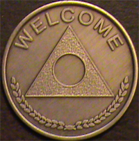 Al-Anon Medallions Welcome - Not Engraved