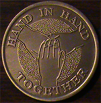 Hand In Hand Together, Hand In Hand Together medallion,