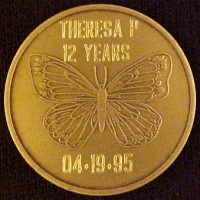 Al-Anon Butterfly Medallion Engraved