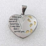 Footprints in the Sand | Inspirational Jewelry