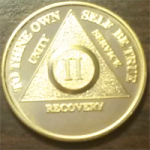 Gold AA Medallion | 24 KT Gold AA Medallion