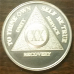 Solid Silver AA Medallion
