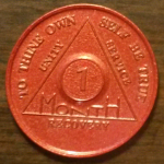 Red 1 Month Aluminum AA Chip