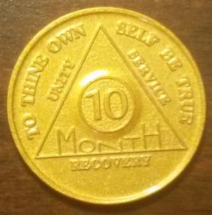 10 Month Aluminum AA Chip