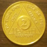 2 Month Gold Aluminum AA Chip