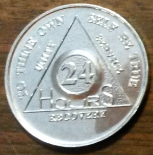 Silver 24 Hours AA Aluminum Chip