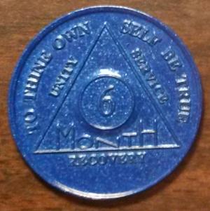 6 Month Aluminum AA Chip