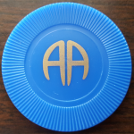 1 Year Blue AA Chip | Blue AA Poker Chip
