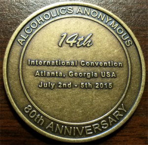 AA International Convention Medallion | 2015 Atlanta AA International Convention