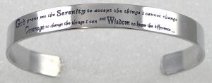 Serenity Prayer Bracelet, Serenity Prayer, Bracelet, serenity prayer jewelry,recovery Bracelet, recovery jewelry,